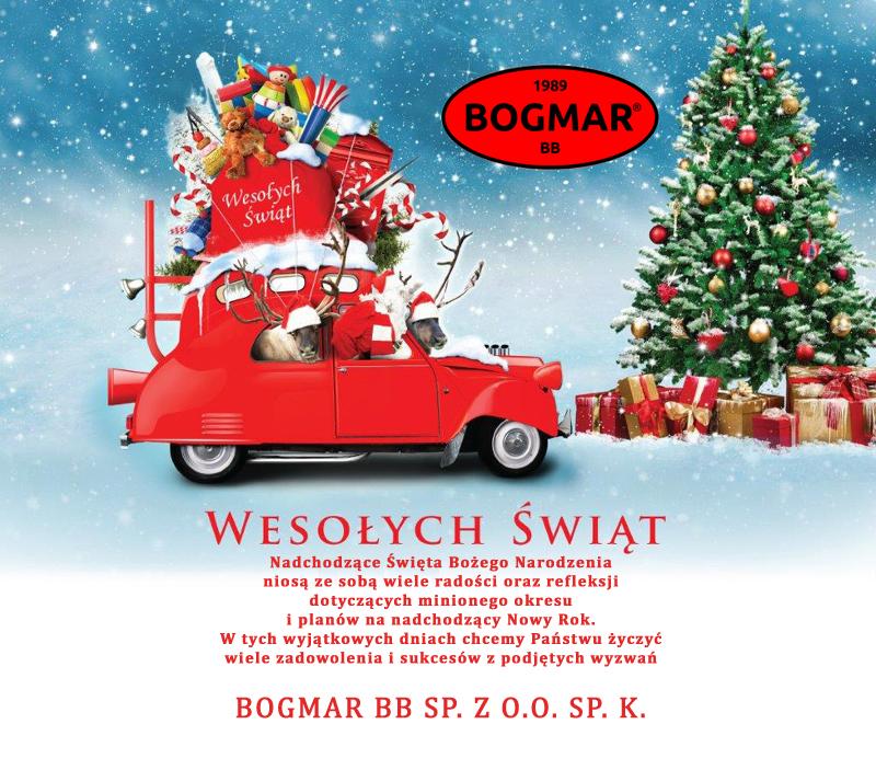 Czas pracy BOGMAR BB w okresie świątecznym